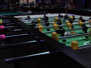Foosball at Sharky's