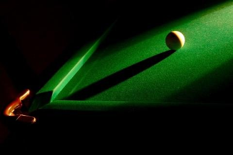 light and billiards